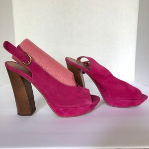 "JEFFREY CAMPBELL IBIZA LAST ""FRIEND"" FUCHSIA PUMPS"